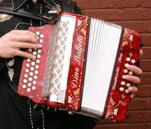 3 row button accordion