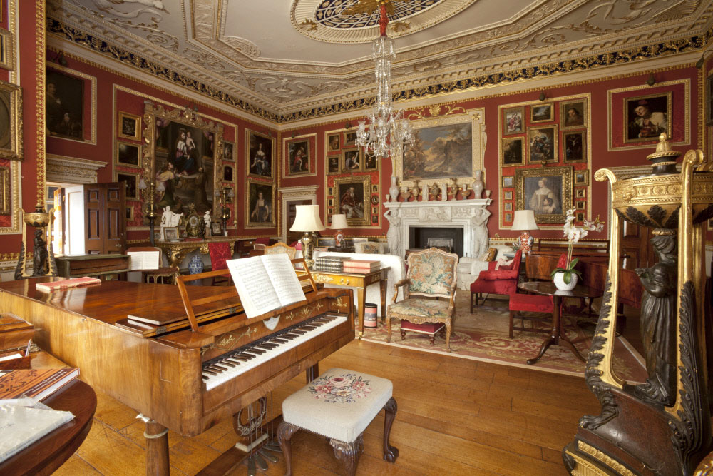 Quadruple strung grand piano by Conrad Graf from the Cobbe Collection