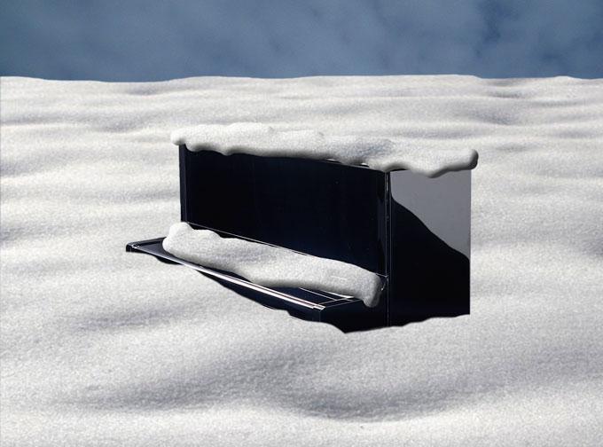 yamaha upright piano in snowdrift