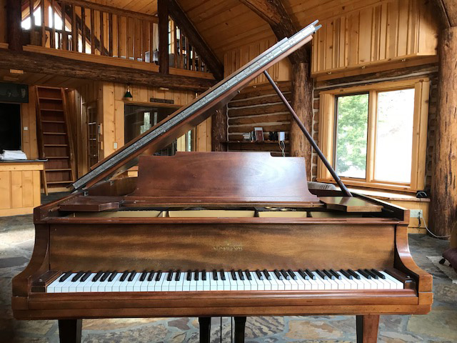 Carole King's Steinway Model M at her Idaho ranch studio