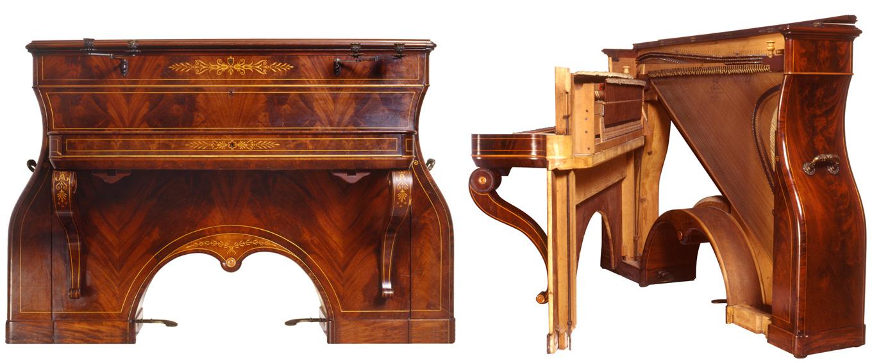 Lichtenthal 'Dog Kennel' upright piano