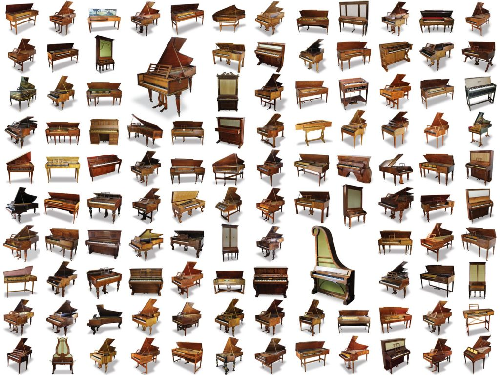 the 114 keyboard instruments being sold