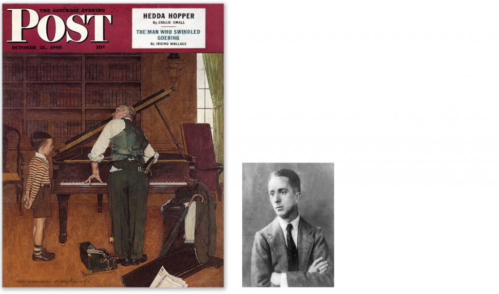 "The cover of The Post showing ""The Piano Tuner"""