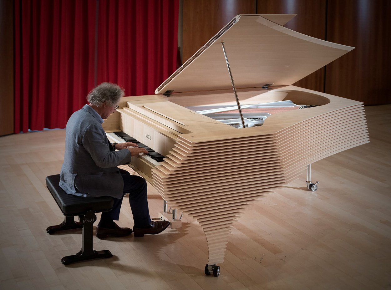 Paolo Fazioli playing the Kengo Kuma Fazioli