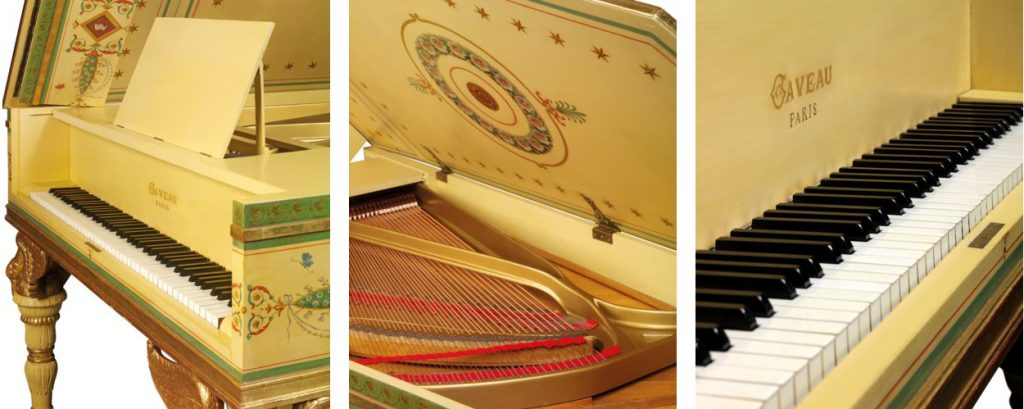 composite images of The Swan Piano