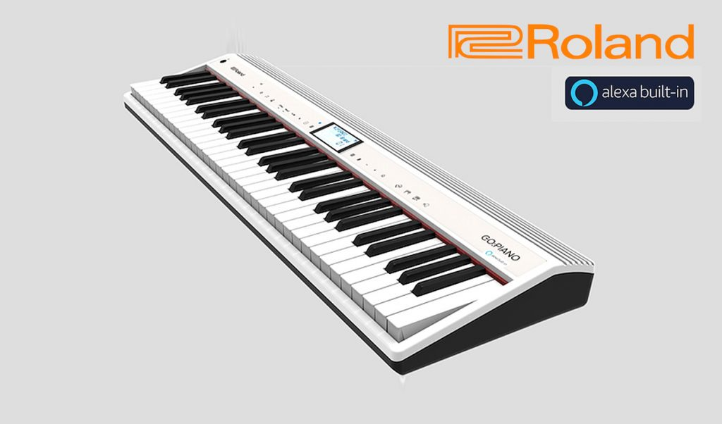 The prototype ROLAND GO:PIANO with Alexa Built-in