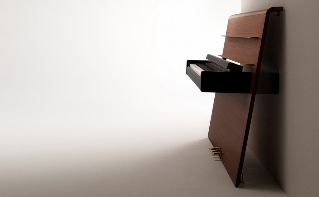 Yamaha's Re-Mind digital concept piano with unique flat plane casework