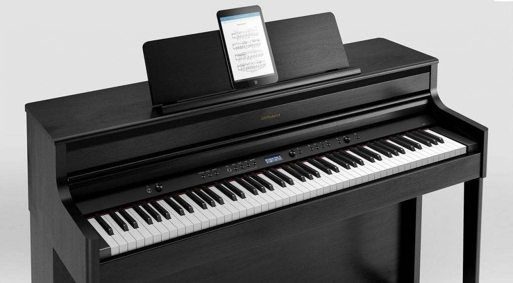 Roland HP-704 Digital Piano with iPad