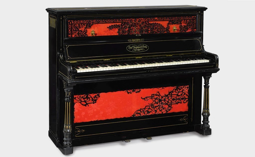 John Lennon's 1872 Broadwood cottage upright piano