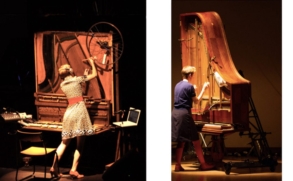 The Inside-Out Pianos 1 and 2 in performance