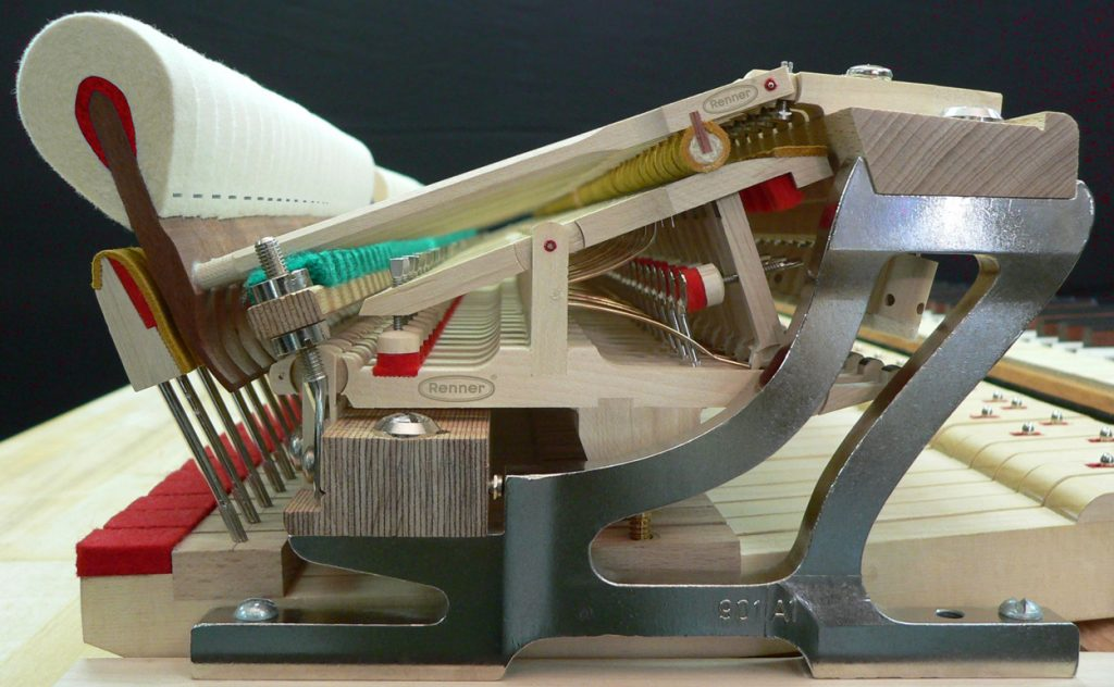 Renner grand piano action assembly