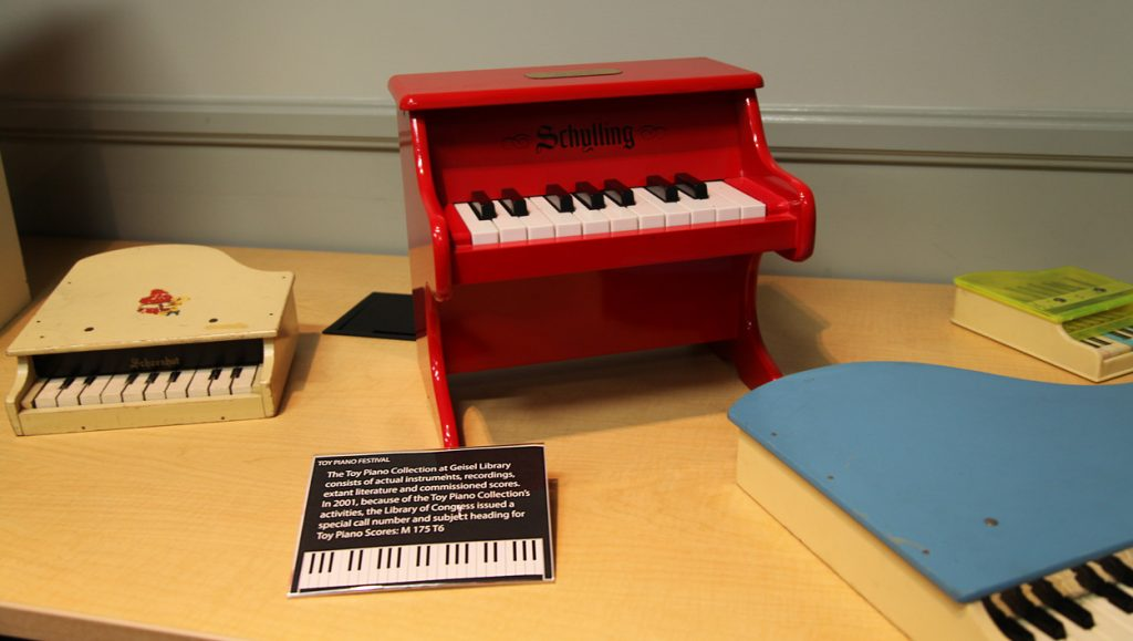 Historic instruments from the Toy Piano Collection