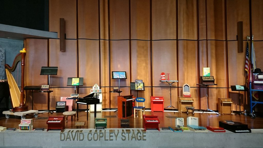 The Toy Piano Collection on display at a previous festival