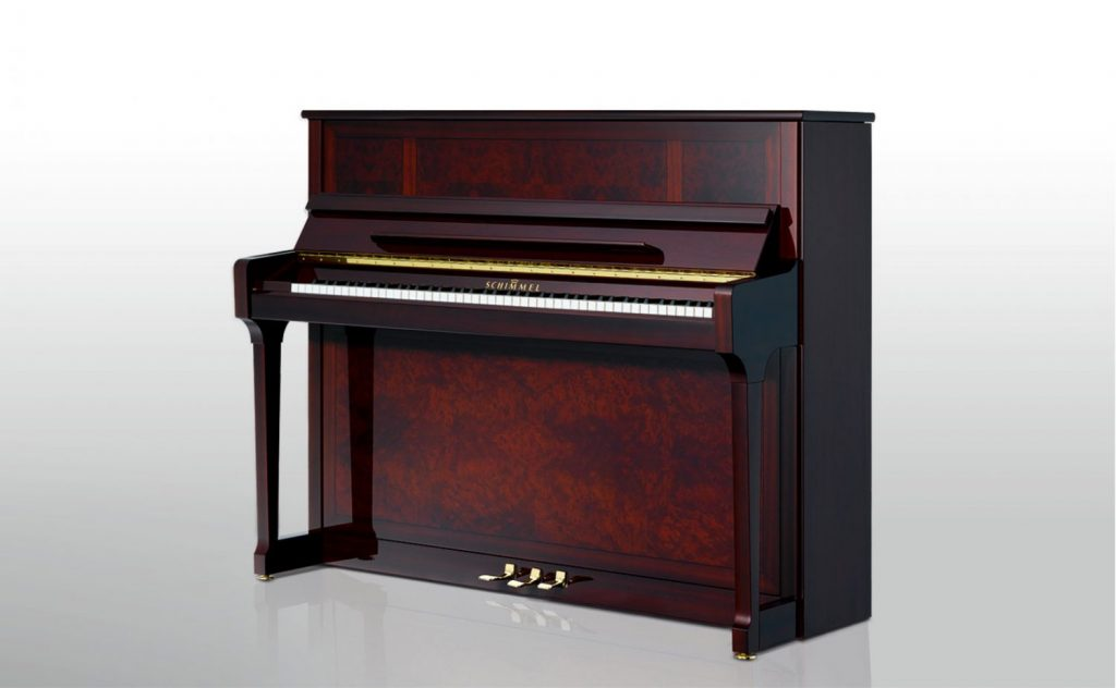 Photo of the Schimmel C121 Tradion Marketerie upright piano