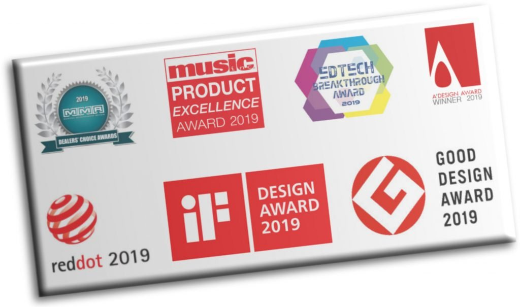 image of various music and design industry piano award logos