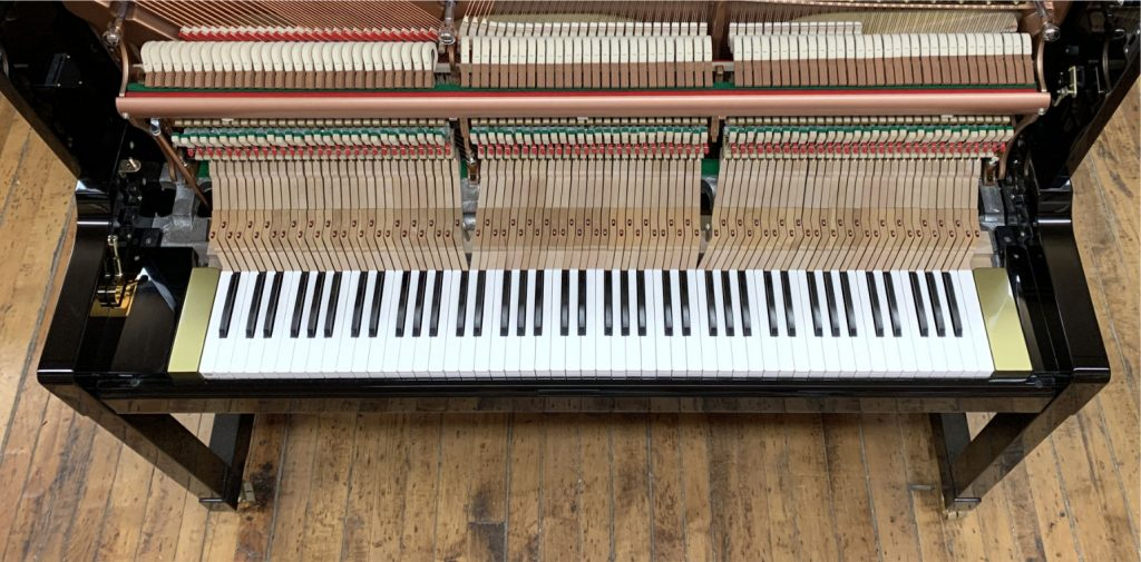 image showing the mechanism of the Hailun Pianos HU-1P fitted with the DS6.0 keyboard