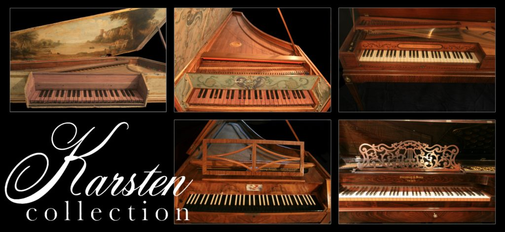 photos of the five historical keyboards used to produce the Karsten Collection instrument pack