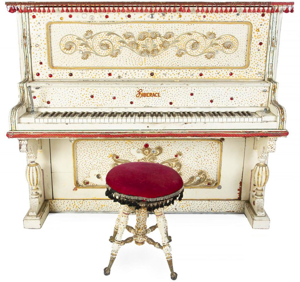Image showing front of the piano with stool