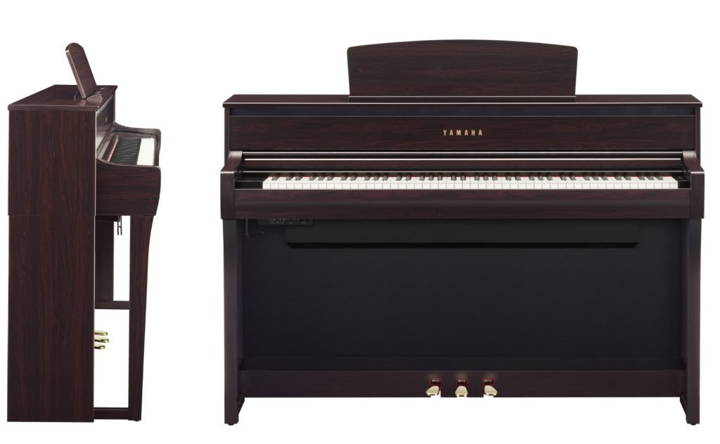 front and side views of the Yamaha Clavinova CLP-775