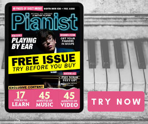 Ad for Pianist Free Sample Issue