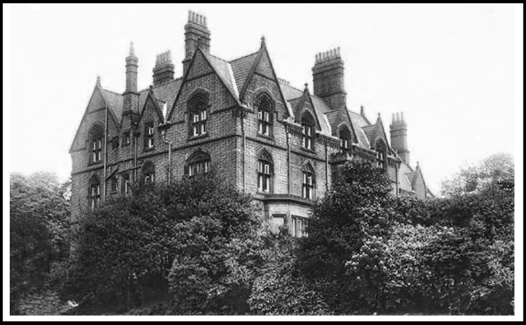 old black and white image of the Strawberry Field house