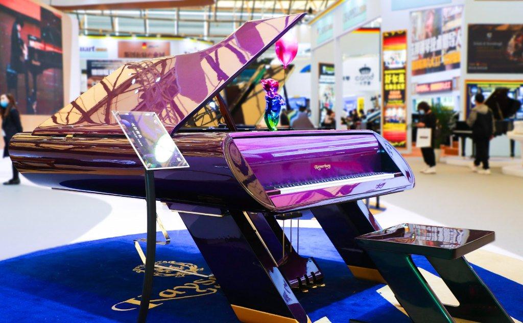 The Celestial Harmony Spacewalk piano on the Kayserburg stand