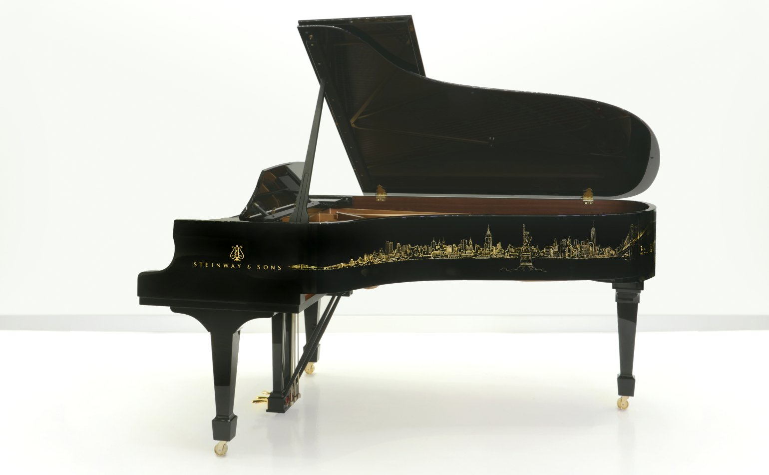 side view of the Steinway Skyline grand piano