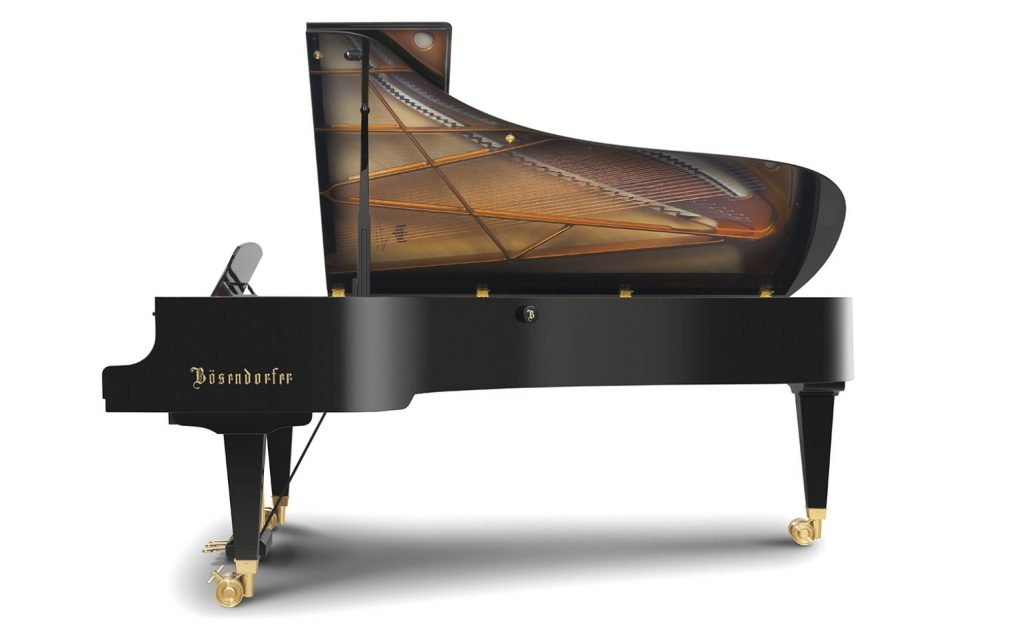 Side view of the Bösendorfer 280VC grand piano
