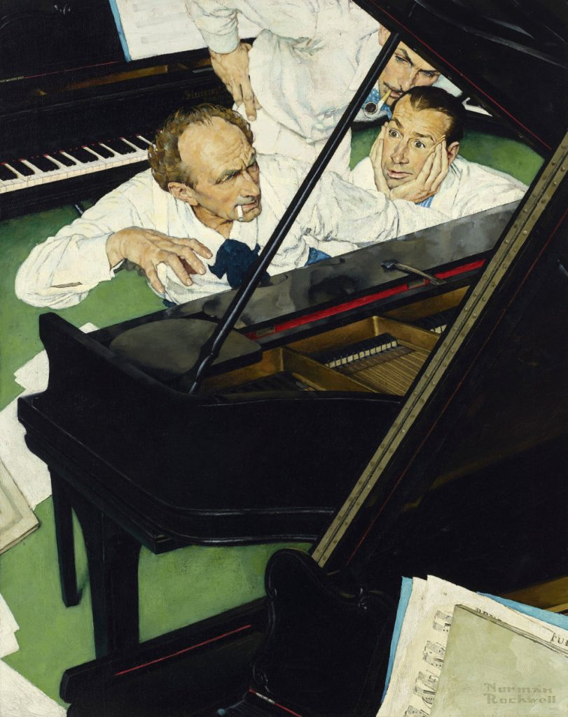 """The """"Jeff Raleigh's Piano Solo"""" painting."""