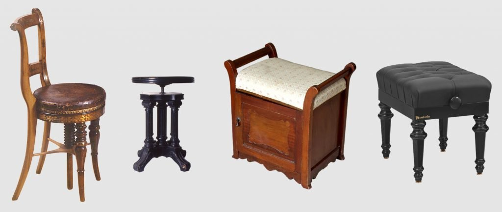 pictures of historic benches and stools