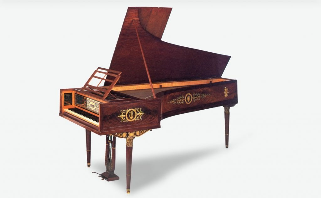"""studio photo of one of Érard's more """"up-market"""" pianofortes."""