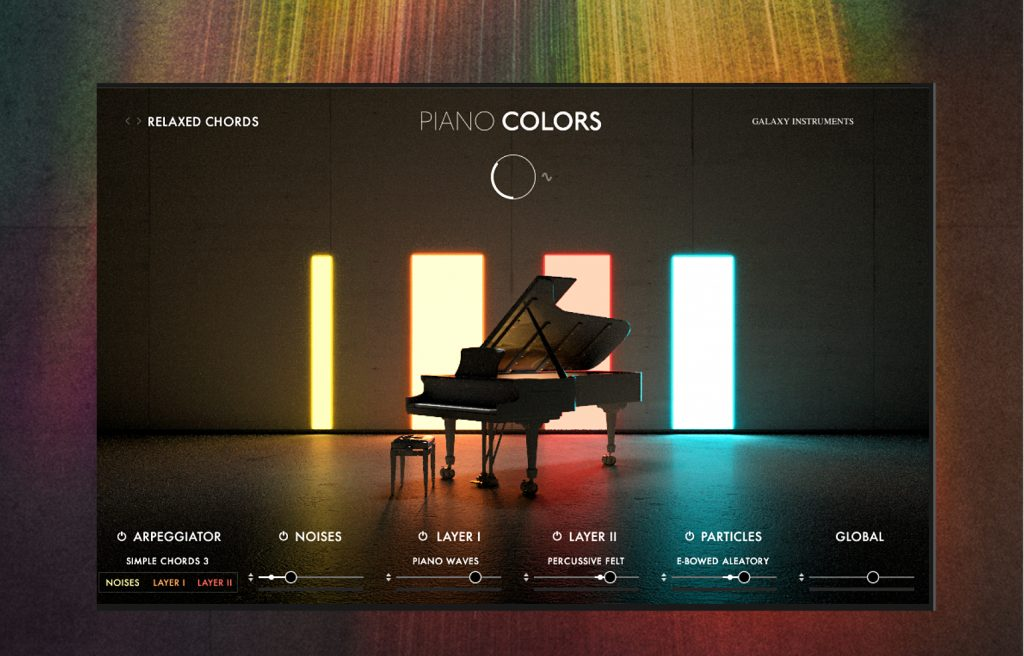 image showing main screen of Piano Colors software